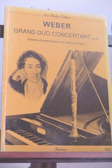 Weber C M von - Grand Duo Concertant Op 48 for Clarinet & Piano [INCOMPLETE]